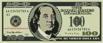 graphic about Printable 100 Dollar Bill Front and Back known as Printable $100 Engage in Funds