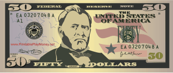 photograph relating to Fake Money Printables named Printable $50 Engage in Funds