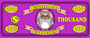 Classroom Currency $1000