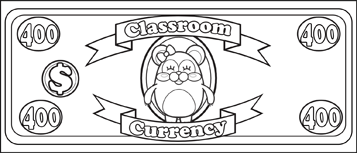 Classroom Currency $400 to color