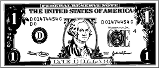 Mini-Dollar Bill to color