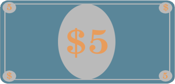 Simple Five Dollar Bill