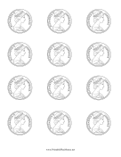 Australian Coin Obverse Colorable