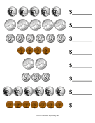 Coin Value Worksheet