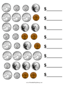 Mixed Coin Value Worksheet
